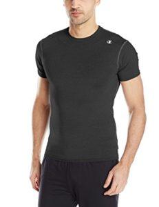 champions short sleeve men compression shirt