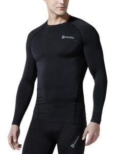 tesla men long sleeve compression shirt