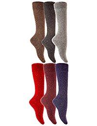 lian-lifestyle-women-knee-high-wool-thermal-socks