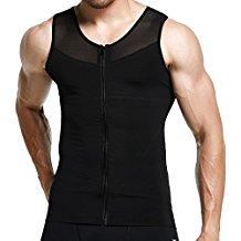 GCVK Men's Slimming Body Shaper Tank Top Zipper Vest