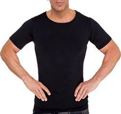 LISH Men's Slimming Light Compression Crew Neck Shirt - Short Sleeve